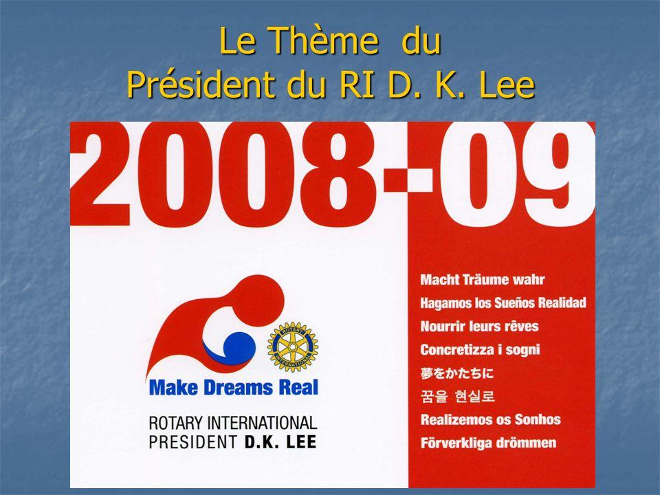 Le Thème du Président du RI D. K. Lee