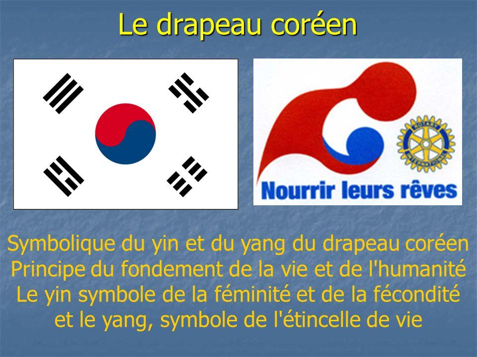 Le drapeau coréen Symbolique du yin et du yang du drapeau coréen
