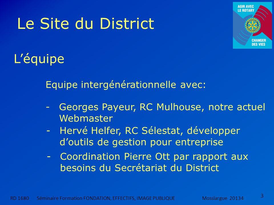 Le Site du District L'équipe Equipe intergénérationnelle avec: