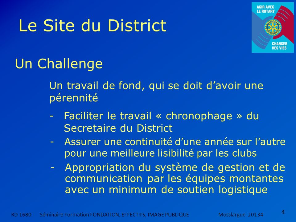 Le Site du District Un Challenge