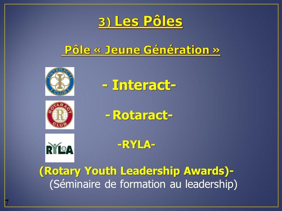 3) Les Pôles Pôle « Jeune Génération »