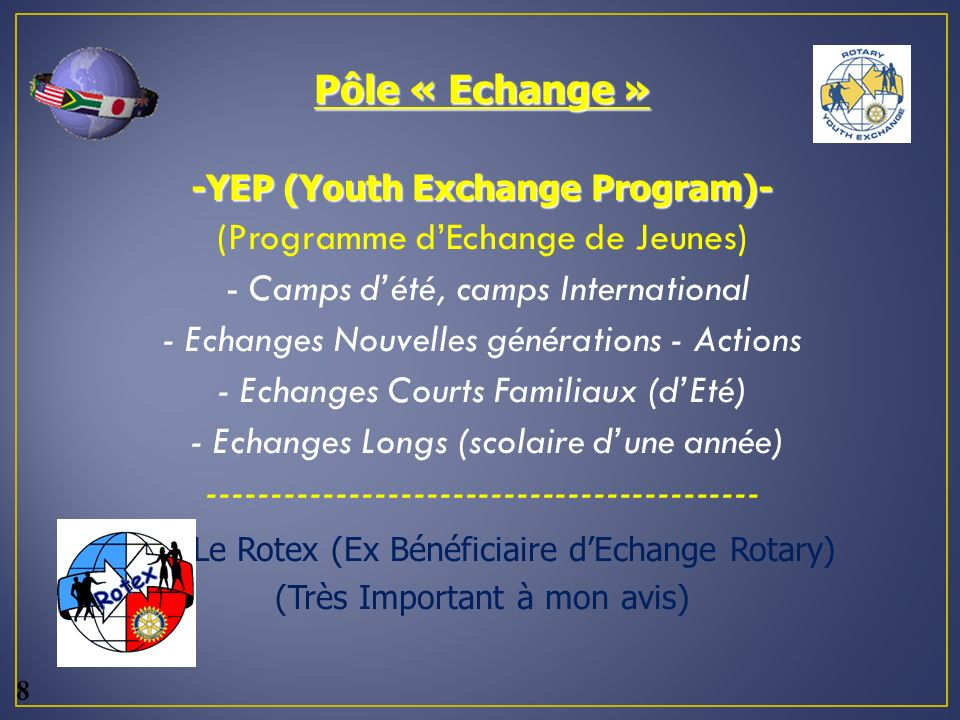 -YEP (Youth Exchange Program)-