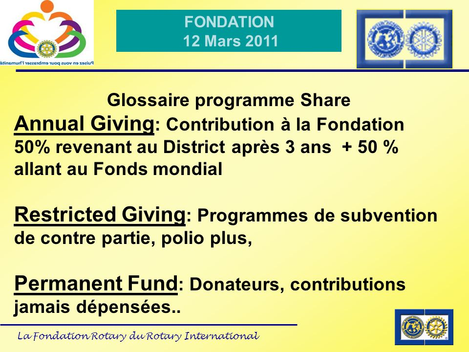Glossaire programme Share