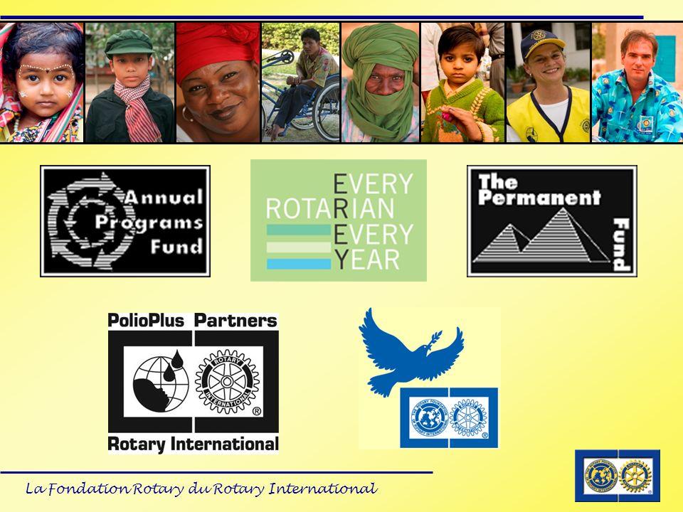 Au travers du réseau des Rotariens à travers le monde, la Fondation est en position unique de créer, mettre en place et soutenir les programmes désirés par nos membres.