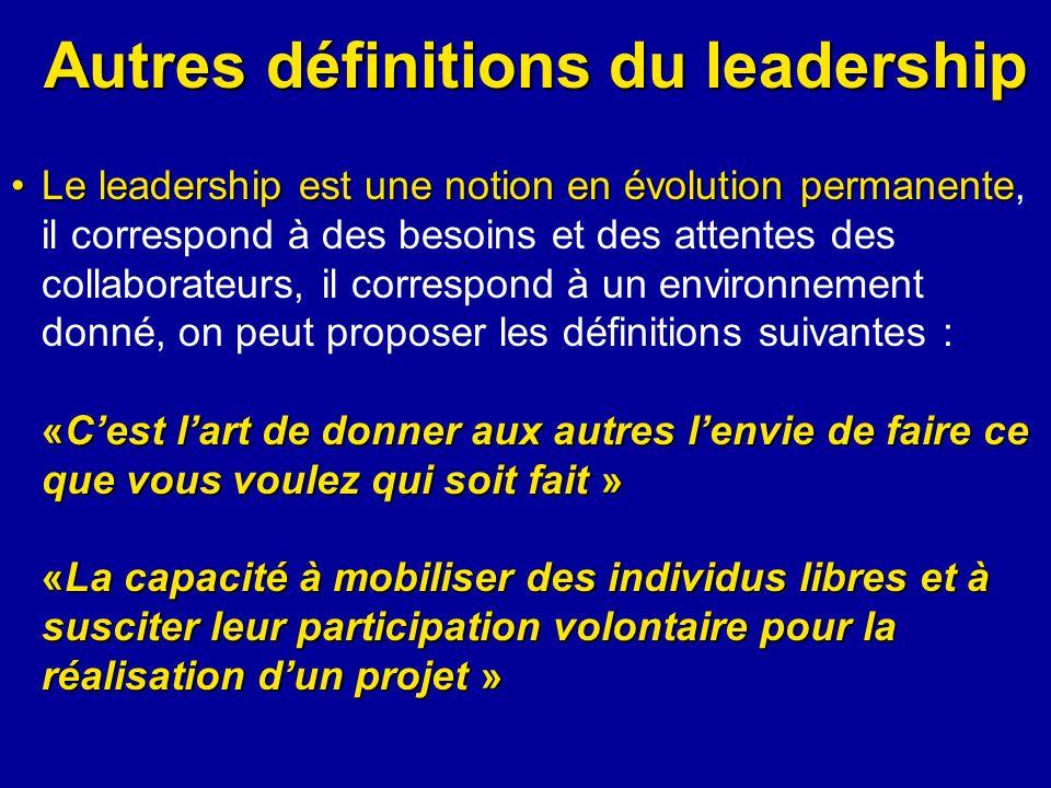 Autres définitions du leadership