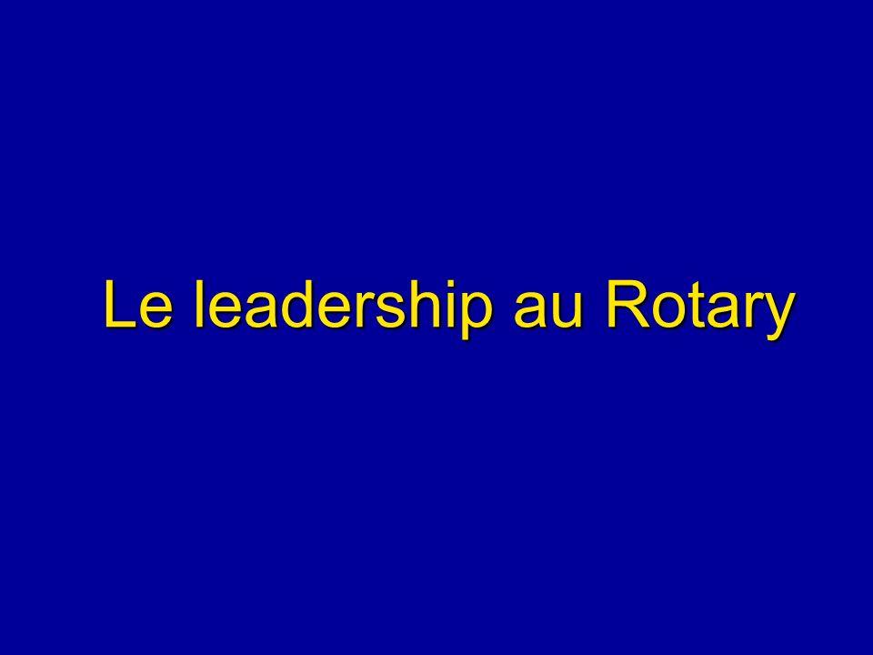 Le leadership au Rotary