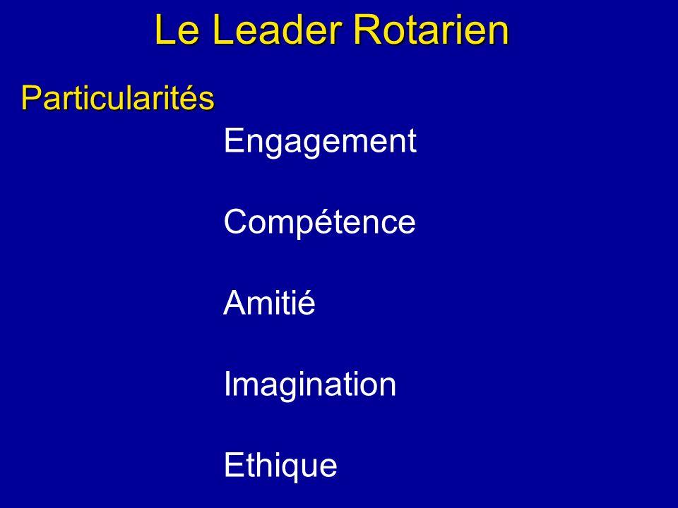 Le Leader Rotarien Particularités Engagement Compétence Amitié