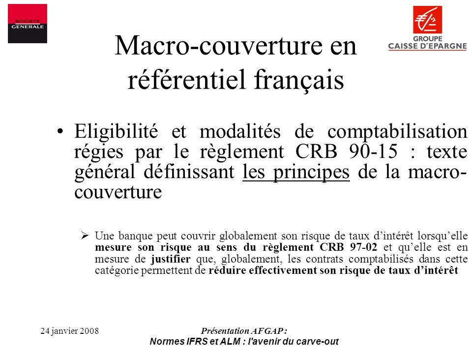 Macro-couverture en référentiel français