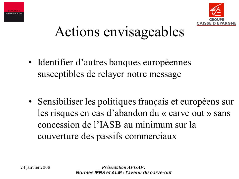 Actions envisageables