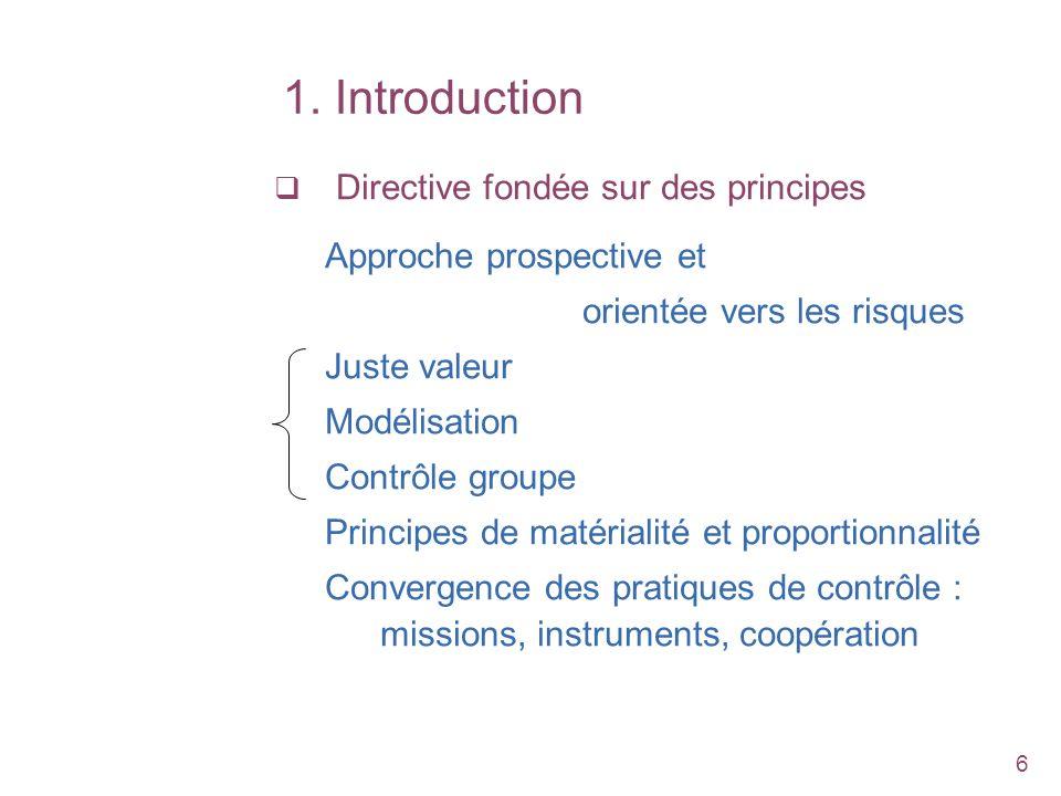 1. Introduction Directive fondée sur des principes