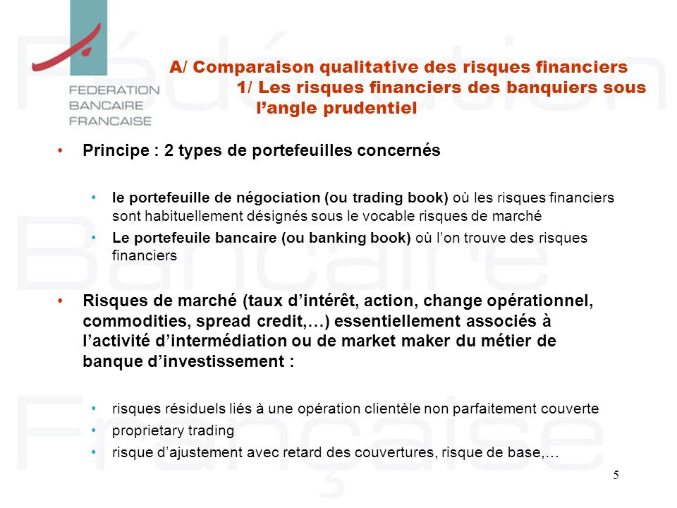 Principe : 2 types de portefeuilles concernés