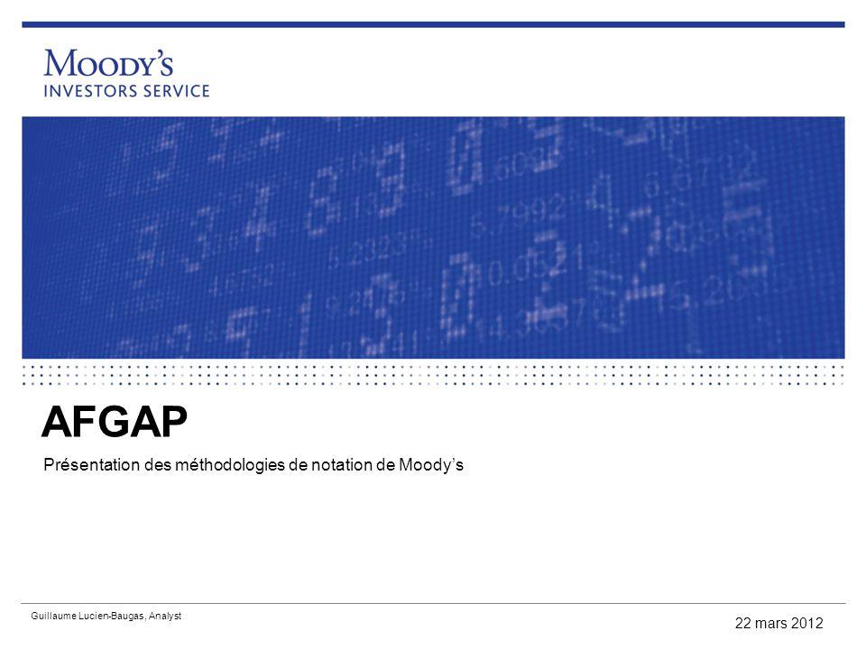Présentation des méthodologies de notation de Moody's