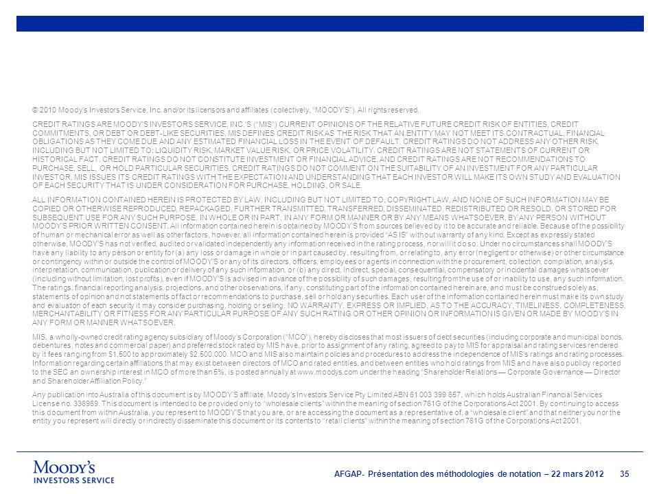 © 2010 Moody's Investors Service, Inc