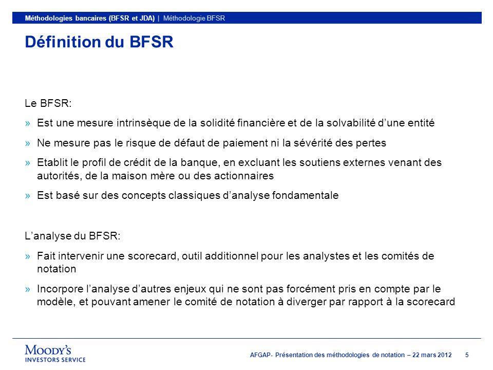 Définition du BFSR Le BFSR: