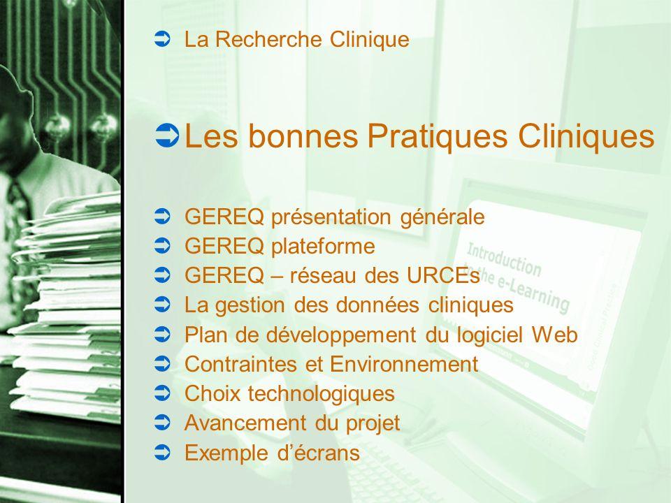 Les bonnes Pratiques Cliniques