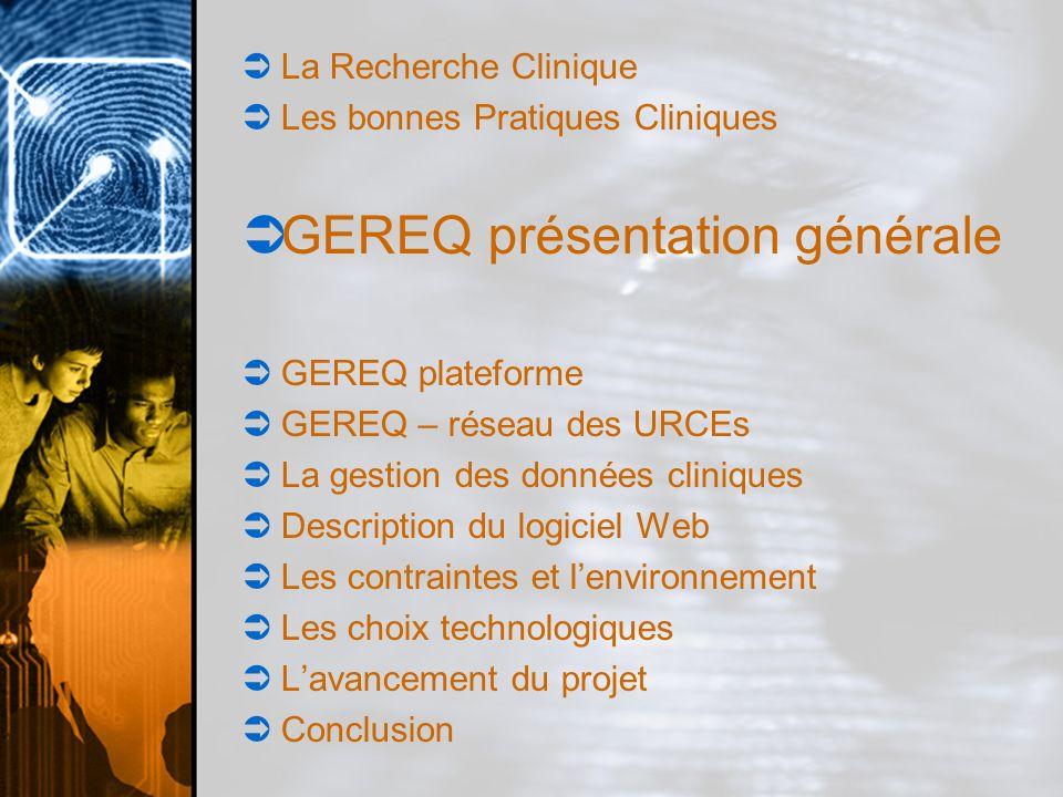 GEREQ présentation générale