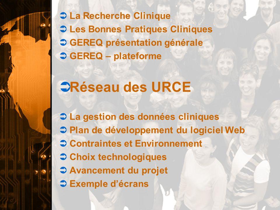 Réseau des URCE La Recherche Clinique Les Bonnes Pratiques Cliniques
