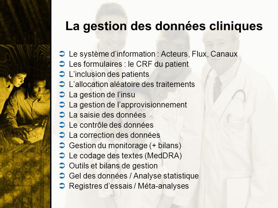 La gestion des données cliniques