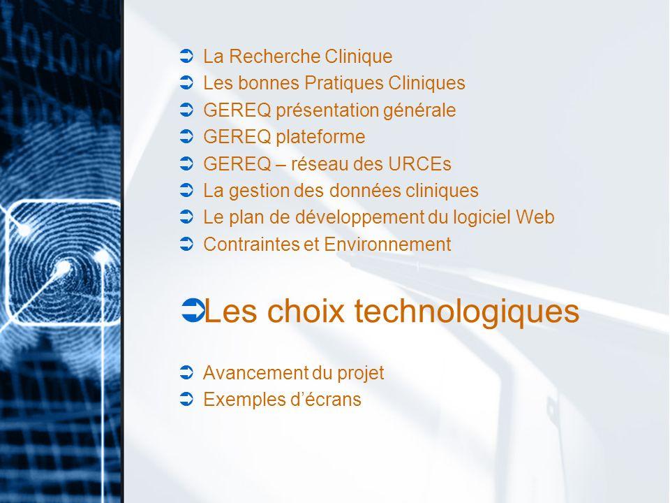 Les choix technologiques