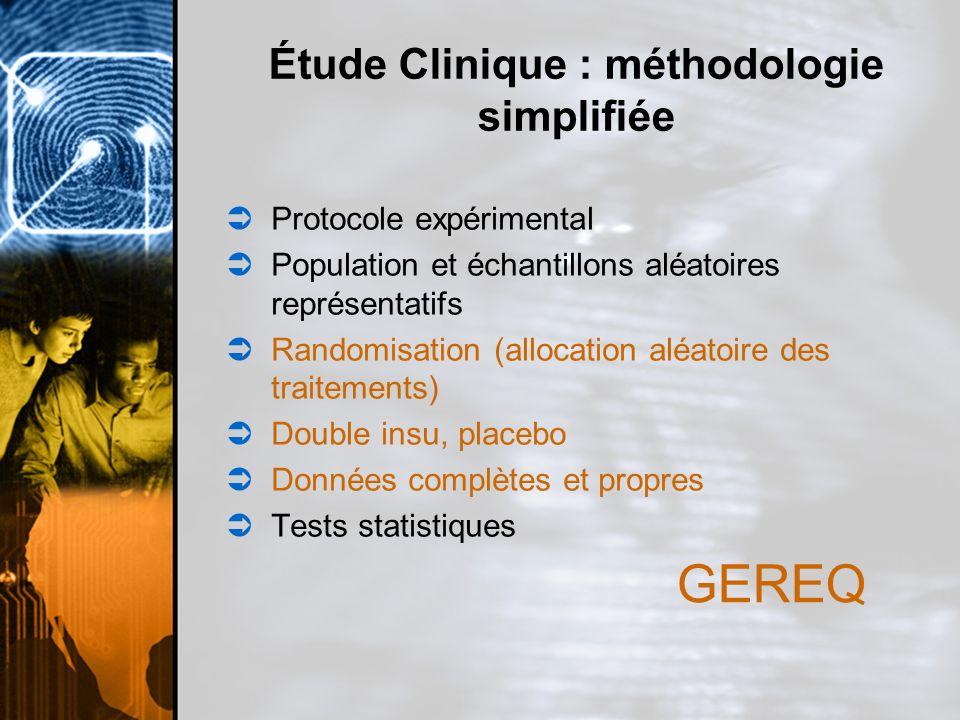 Étude Clinique : méthodologie simplifiée