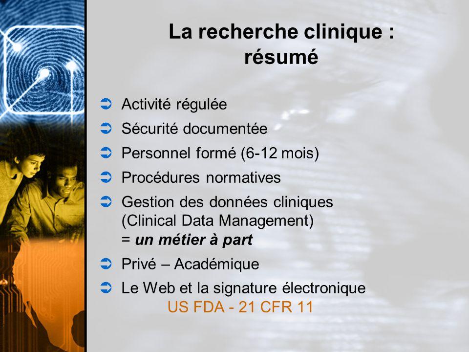 La recherche clinique : résumé