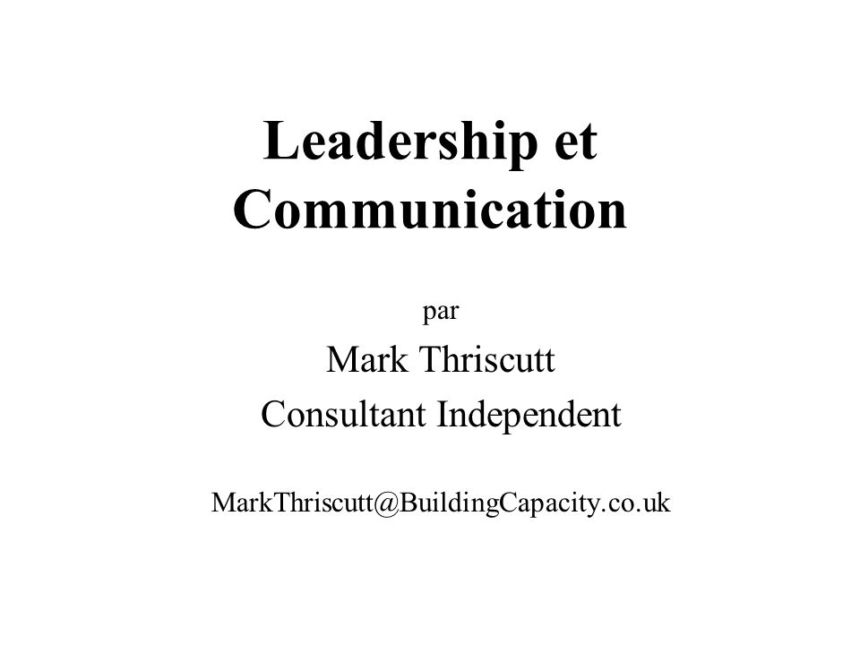 Leadership et Communication