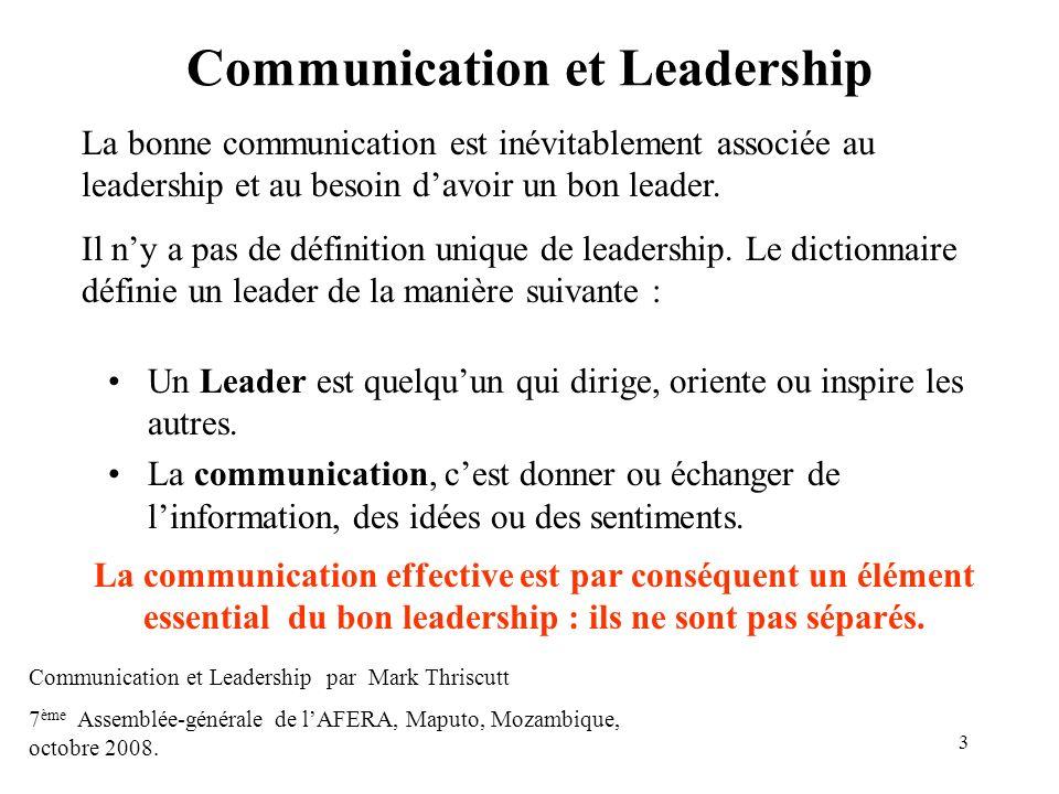 Communication et Leadership