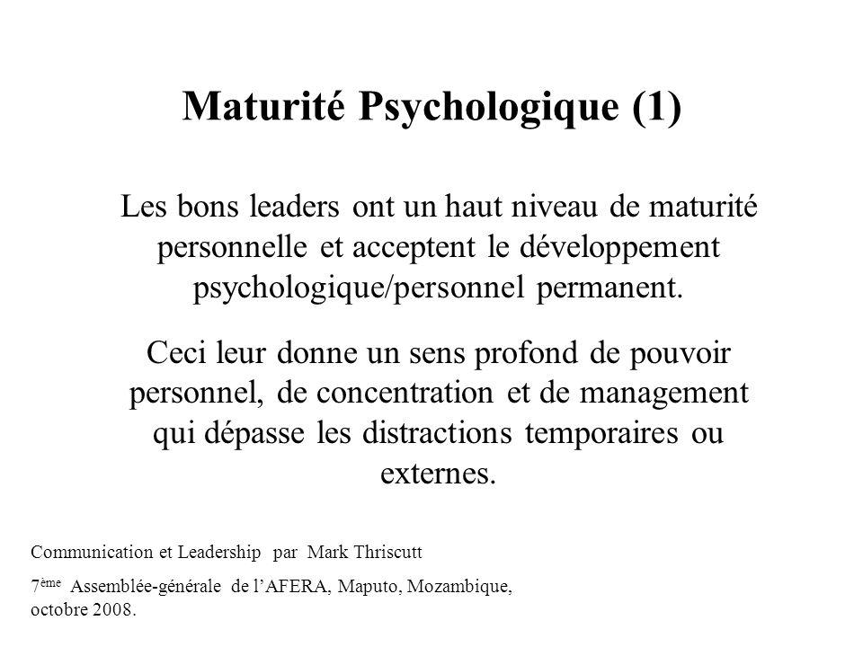 Maturité Psychologique (1)