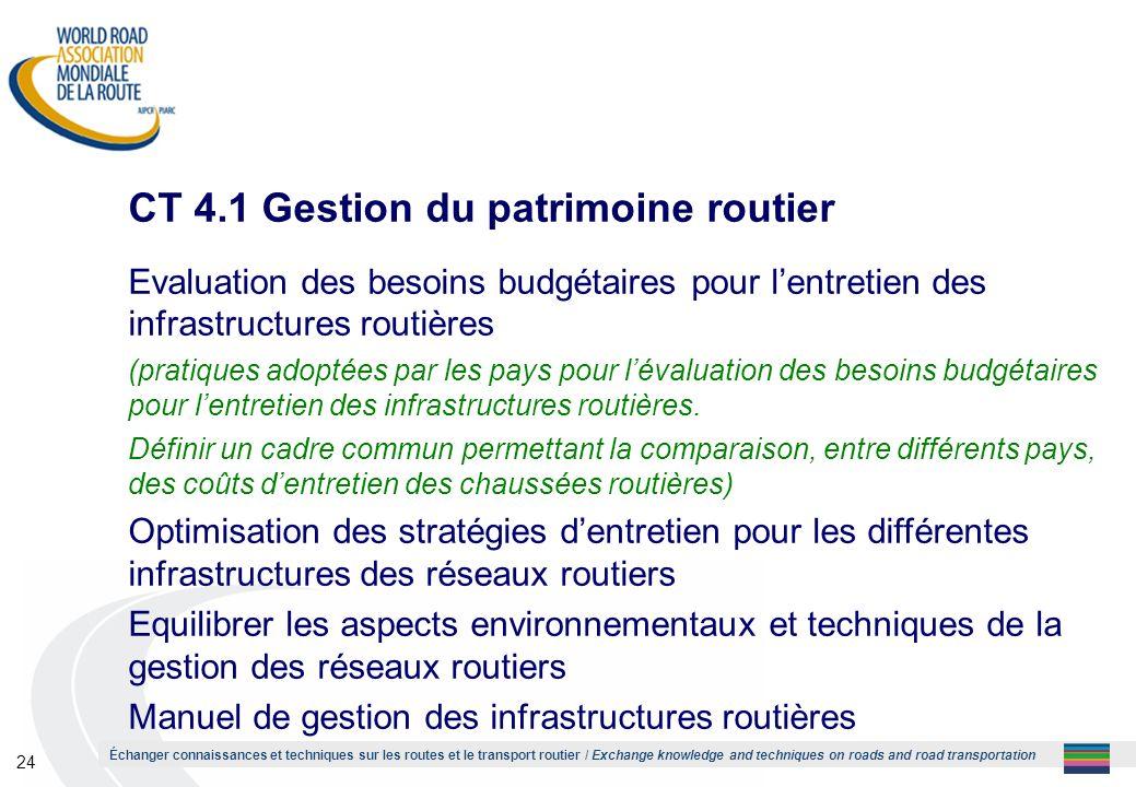 CT 4.1 Gestion du patrimoine routier