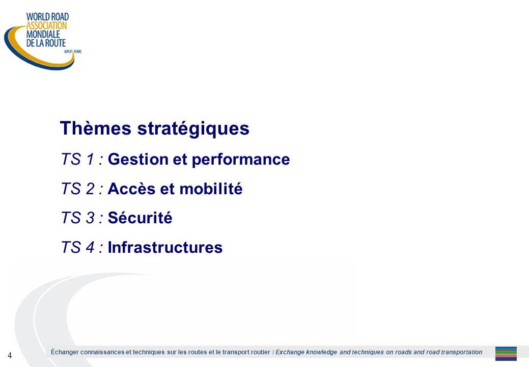 Thèmes stratégiques TS 1 : Gestion et performance