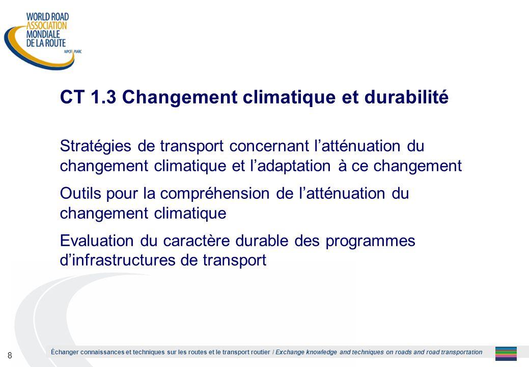 CT 1.3 Changement climatique et durabilité