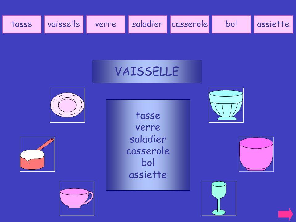 VAISSELLE tasse verre saladier casserole bol assiette tasse vaisselle