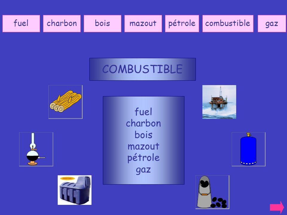 COMBUSTIBLE fuel charbon bois mazout pétrole gaz fuel charbon bois
