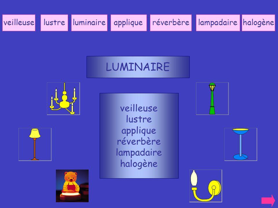 LUMINAIRE veilleuse lustre applique réverbère lampadaire halogène