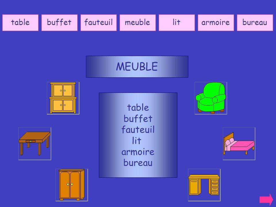 MEUBLE table buffet fauteuil lit armoire bureau table buffet fauteuil