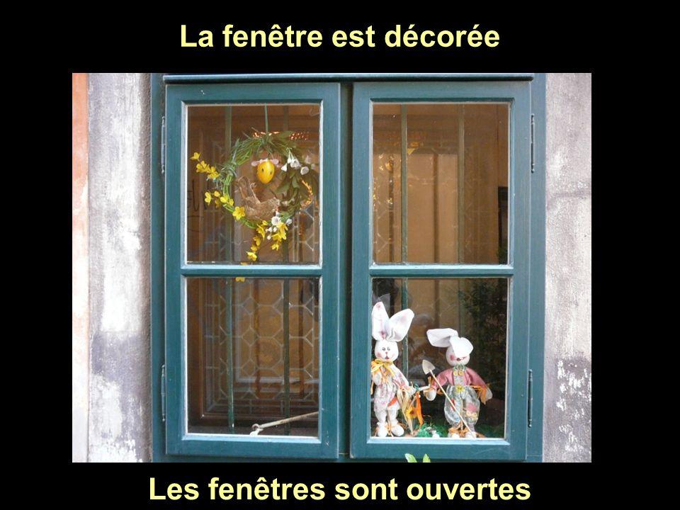Les fenêtres sont ouvertes