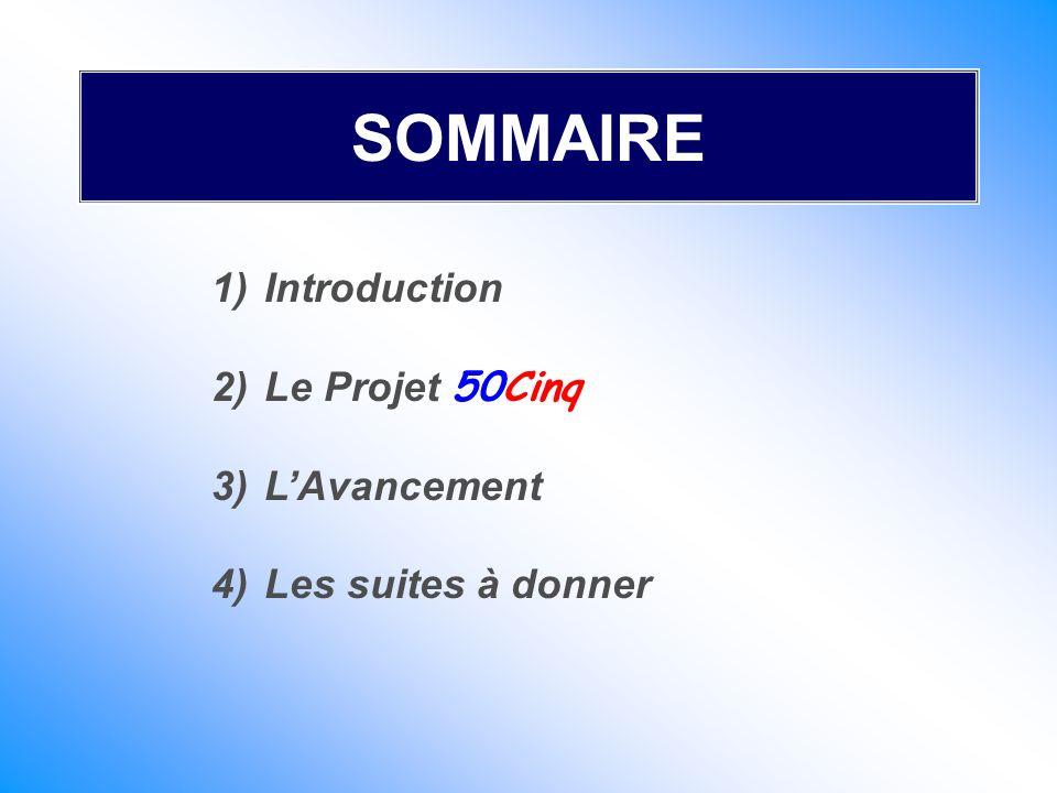 SOMMAIRE Introduction Le Projet 50Cinq L'Avancement