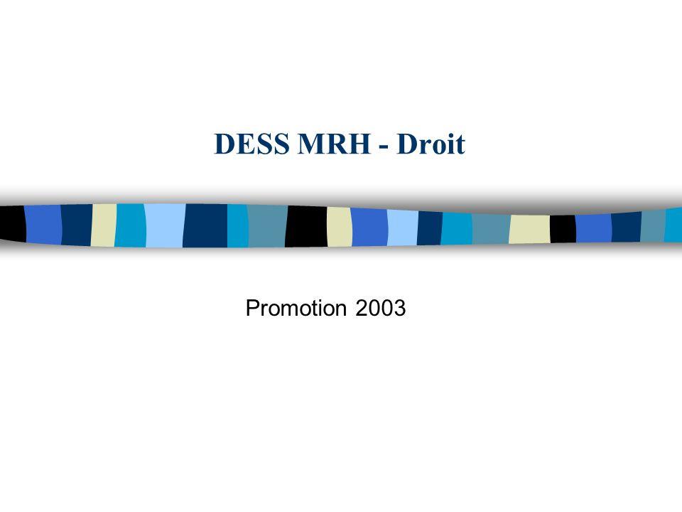 DESS MRH - Droit Promotion 2003