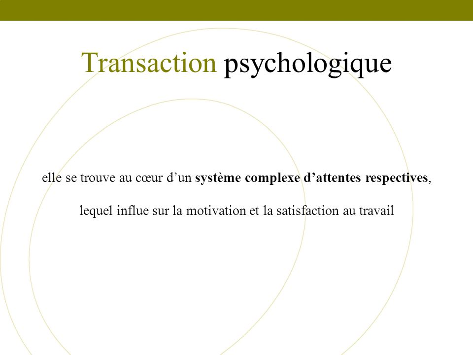 Transaction psychologique