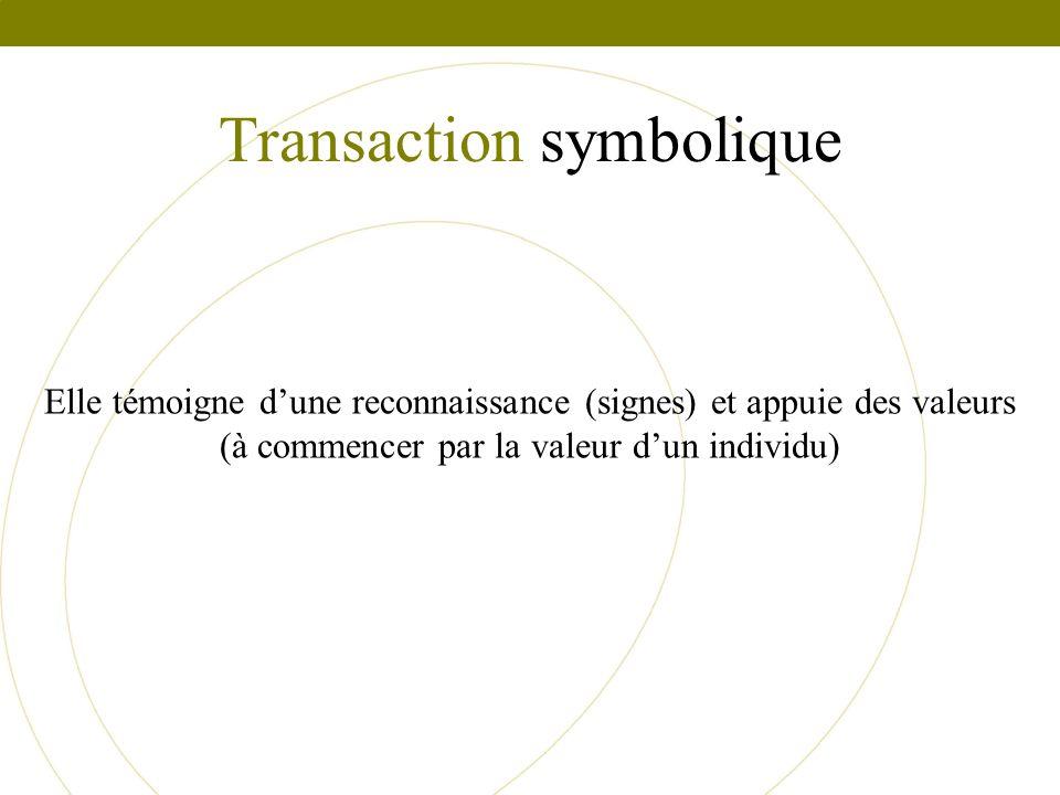 Transaction symbolique