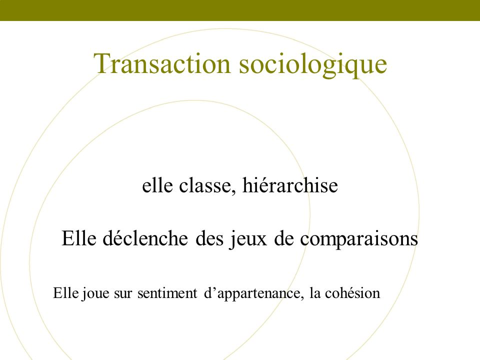 Transaction sociologique