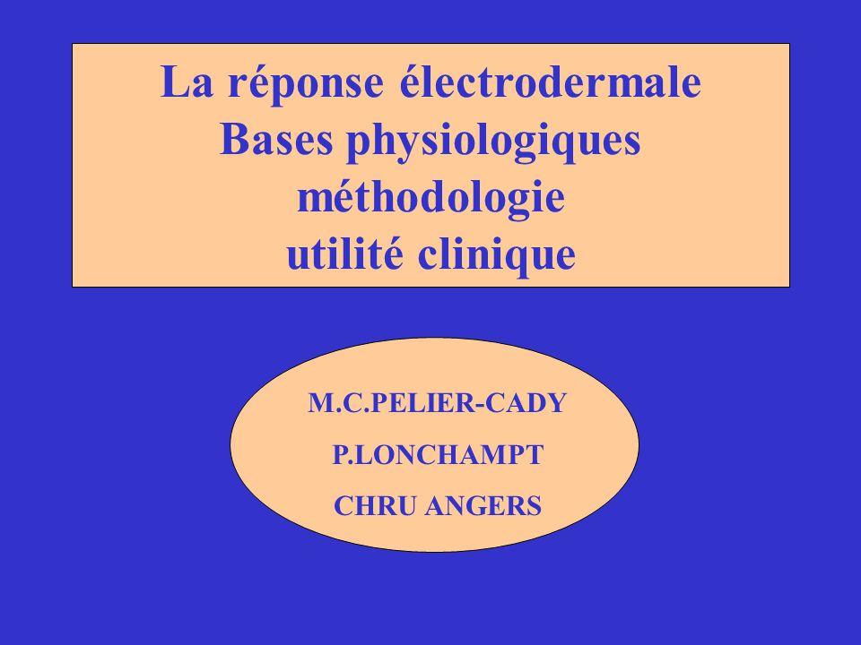 La réponse électrodermale