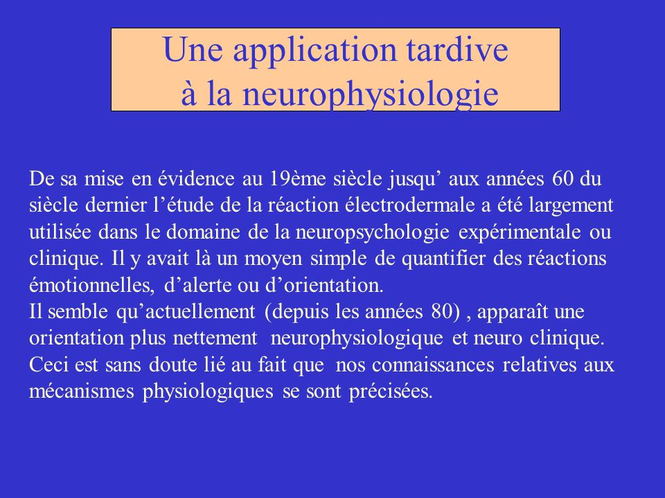 Une application tardive