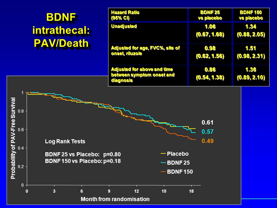BDNF intrathecal: PAV/Death