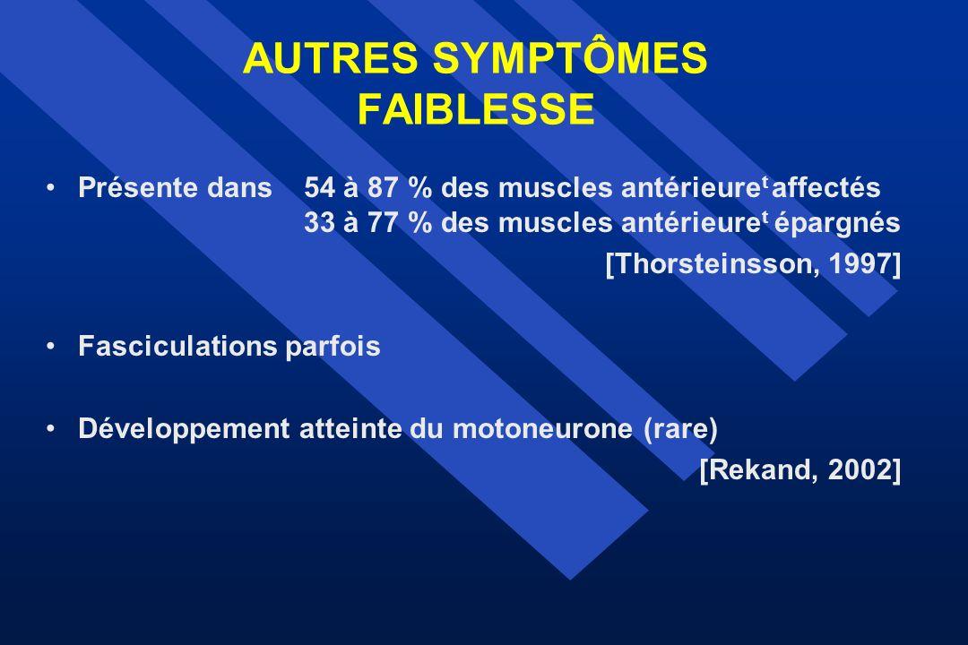 AUTRES SYMPTÔMES FAIBLESSE