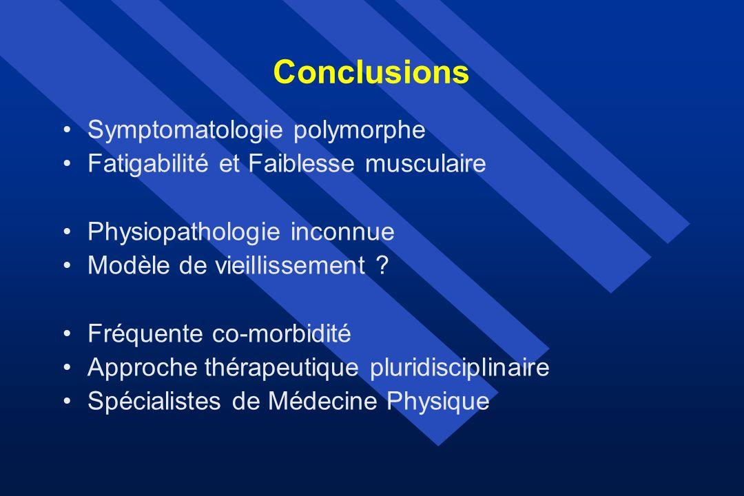 Conclusions Symptomatologie polymorphe