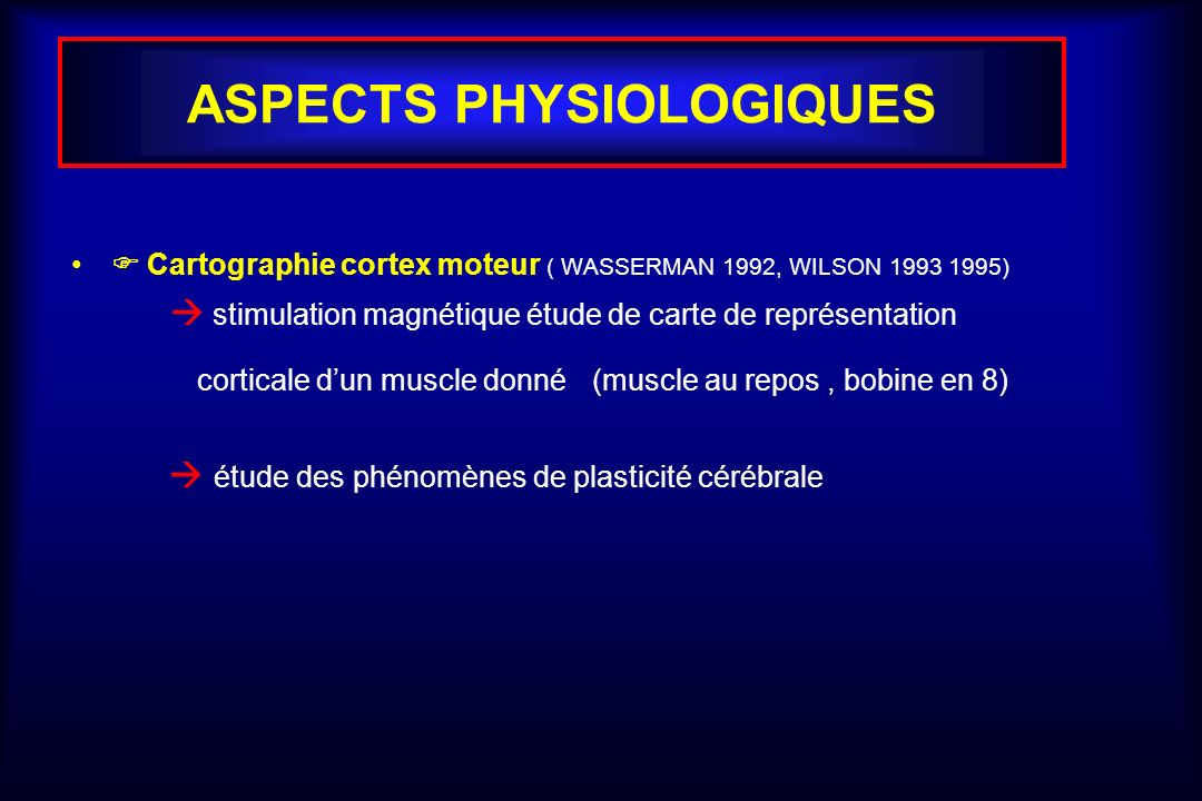 ASPECTS PHYSIOLOGIQUES