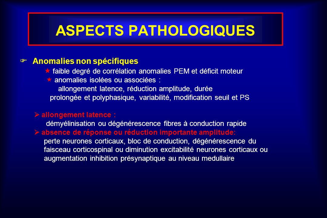ASPECTS PATHOLOGIQUES