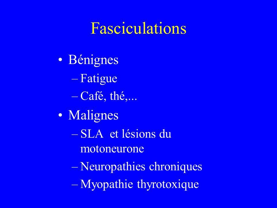 Fasciculations Bénignes Malignes Fatigue Café, thé,...