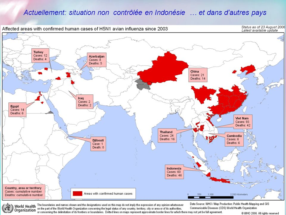 Actuellement: situation non contrôlée en Indonésie … et dans d'autres pays